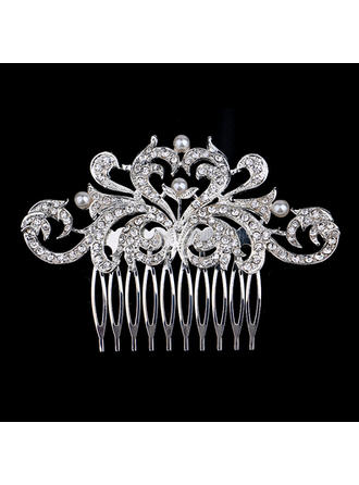 "Combs & Barrettes Wedding/Special Occasion/Party Rhinestone/Alloy/Imitation Pearls 3.94""(Approx.10cm) 2.36""(Approx.6cm) Headpieces"