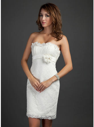 Sheath/Column Magnificent Lace General Plus Cocktail Dresses