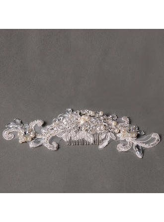 "Combs & Barrettes Wedding/Special Occasion/Party Rhinestone/Alloy/Lace/Freshwater Pearl 4.72""(Approx.12cm) 1.97""(Approx.5cm) Headpieces"
