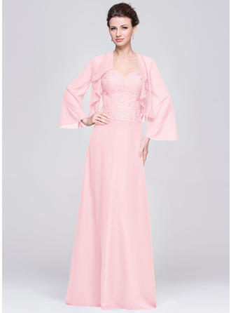 Chiffon Sleeveless Mother of the Bride Dresses Sweetheart A-Line/Princess Floor-Length