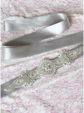Women Ribbon With Rhinestones/Imitation Pearls Sash Elegant Sashes & Belts (015191311)