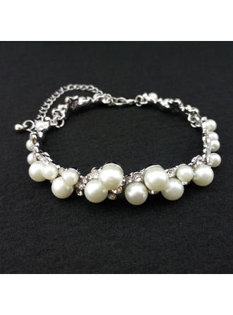 """Armbänder Legierung/Strasssteine/Faux-Perlen Damen Klassische Art 9.84""""(Ungefähre 25cm) Hochzeits- & Partyschmuck"""
