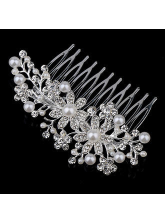 "Combs & Barrettes Wedding/Party/Carnival Rhinestone/Alloy/Imitation Pearls 4.72""(Approx.12cm) 2.36""(Approx.6cm) Headpieces"