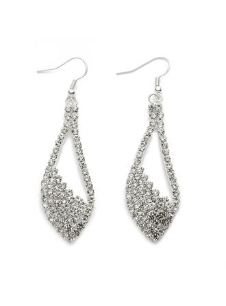 Earrings Alloy/Rhinestones/Silver Plated Pierced Ladies' Charming Wedding & Party Jewelry