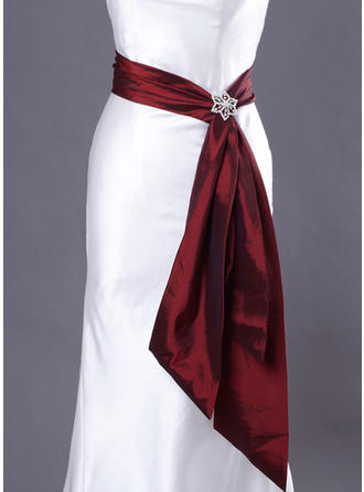 Women Taffeta With Beading Sash Simple Sashes & Belts