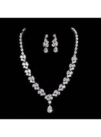 Elegant Alloy/Zircon With Cubic Zirconia Ladies' Jewelry Sets (011144917)