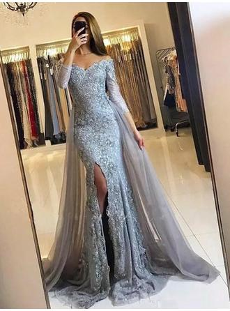 Sweep Train Lace With Trumpet/Mermaid Prom Dresses