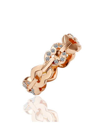 Rings Alloy/Rose Gold Plated Ladies' Beautiful Wedding & Party Jewelry