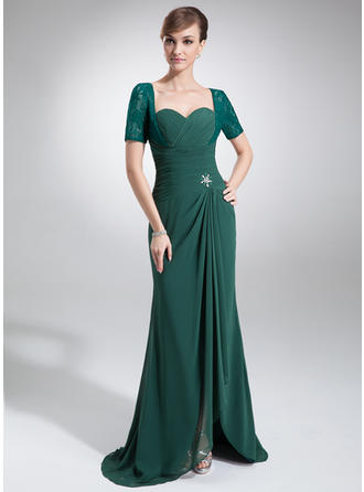 long sleeve mother of the bride dresses tea length