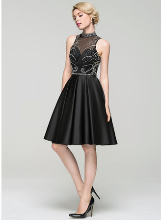 Modern A-Line/Princess High Neck General Plus With Cocktail Dresses
