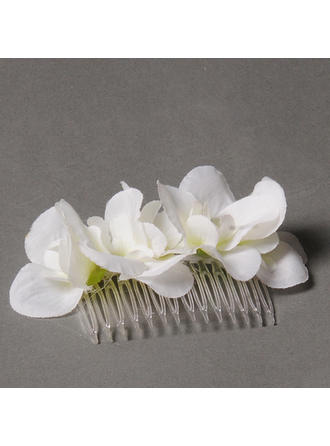 "Combs & Barrettes/Flowers & Feathers Wedding/Special Occasion/Party 3.15""(Approx.8cm) 1.97""(Approx.5cm) 1.18""(Approx.3cm) Headpieces"