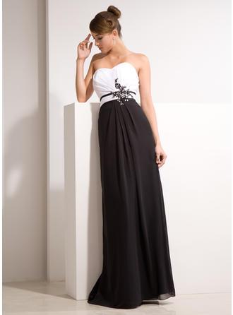 Princess シフォン Aライン/プリンセスライン2 アップジッパー イブニングドレス (017014461)