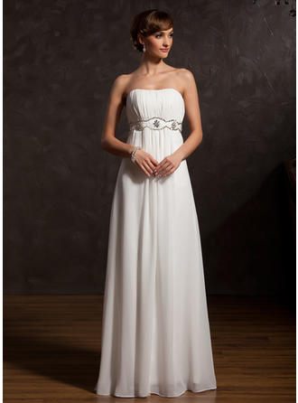 Chiffon Sleeveless Mother of the Bride Dresses Sweetheart Empire Ruffle Beading Floor-Length