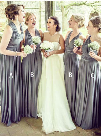 Sleeveless V-neck A-Line/Princess Chiffon Bridesmaid Dresses
