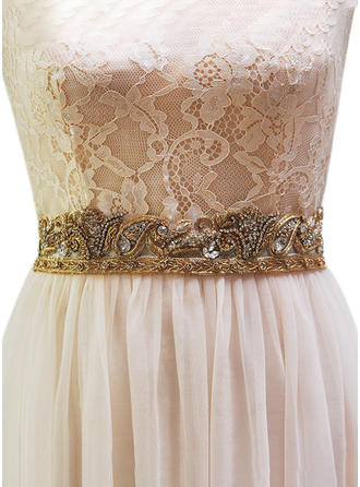 Women Satin With Rhinestones Sash Elegant/Beautiful Sashes & Belts