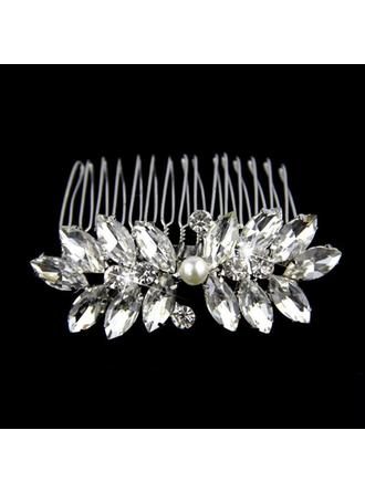 Rhinestone/Alloy/Imitation Pearls Combs & Barrettes (Sold in single piece)