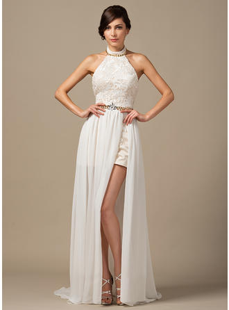 Chiffon Lace A-Line/Princess Modern Beading Wedding Dresses