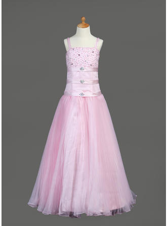 A-Line/Princess Floor-length Organza/Satin - Luxurious Flower Girl Dresses