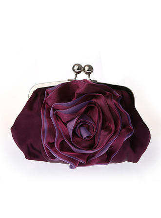 Clutches Ceremony & Party Satin Kiss lock closure Gorgeous Clutches & Evening Bags