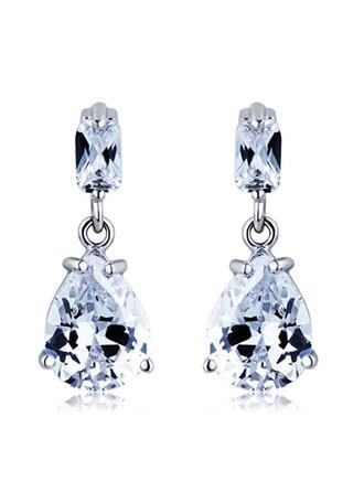 Earrings Alloy/Cubic Zirconia Pierced Ladies' Nice Wedding & Party Jewelry