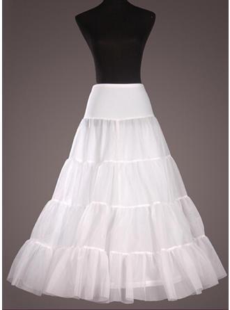 Unterröcke Bodenlang Nylon/Tüll Netting A-Leitung Gleiten/Volle Kleid Gleiten 1 Ebene Reifröcke