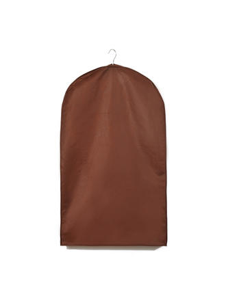Garment Bags Suit Length Side Zip Tulle/Nonwoven Fabric Chocolate Wedding Garment Bag