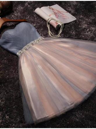 Beautiful Tulle Homecoming Dresses A-Line/Princess Short/Mini Sweetheart Sleeveless