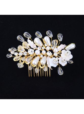 Crystal/Alloy/Imitation Pearls Combs & Barrettes (Sold in single piece)