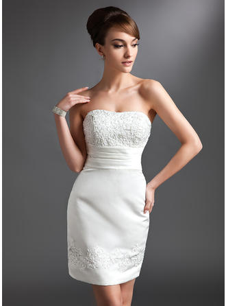 Sheath/Column Sweetheart Short/Mini Mother of the Bride Dresses With Lace Beading