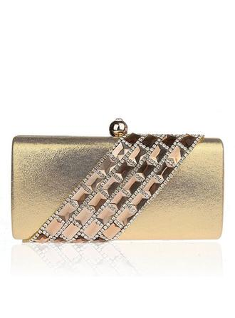Clutches Wedding/Ceremony & Party/Office & Career Satin Clip Closure Gorgeous Clutches & Evening Bags