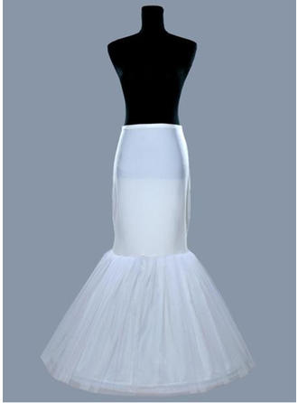 Bustle Floor-length Tulle Netting/Satin Full Gown Slip 1 Tiers Petticoats (037190848)