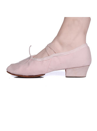 Women's Ballet Pumps Fabric With Bowknot Dance Shoes