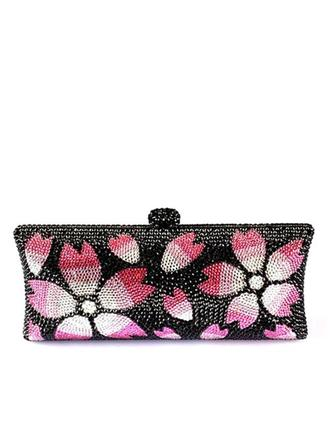 Clutches/Luxury Clutches Wedding/Ceremony & Party/Casual & Shopping Crystal/ Rhinestone/Alloy Magnetic Closure Attractive Clutches & Evening Bags