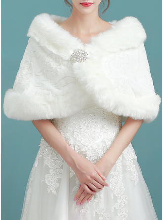 Wrap Wedding Faux Fur Ivory Wraps (013140120)