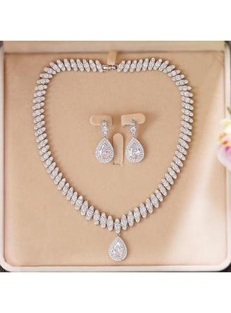 """Jewelry Sets Zircon Ladies' Beautiful 16.93""""(Approx.43cm) Wedding & Party Jewelry"""
