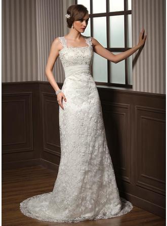 cheap lace white wedding dresses