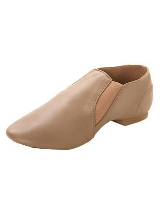Frauen Jazz Flache Schuhe Kunstleder Tanzschuhe