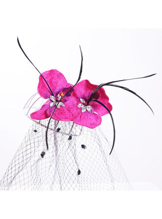 "Hairpins Wedding/Special Occasion/Outdoor/Party Artificial Silk/Tulle 9.84""(Approx.25cm) 3.94""(Approx.10cm) Headpieces"