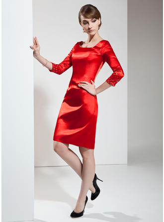 long red cocktail dresses with sleeves