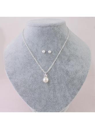 Schmuck Sets Faux-Perlen Karabiner Durchbohrt Damen Hochzeits- & Partyschmuck