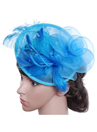 Cambric With Feather Floppy Hat Beautiful/Gorgeous/Special/Glamourous/Classic Ladies' Hats