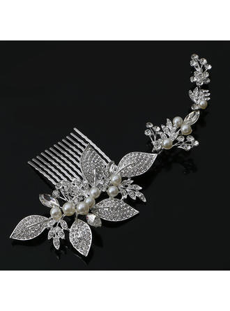 "Combs & Barrettes Wedding/Special Occasion/Party Rhinestone/Alloy/Imitation Pearls 7.87""(Approx.20cm) 3.15""(Approx.8cm) Headpieces"