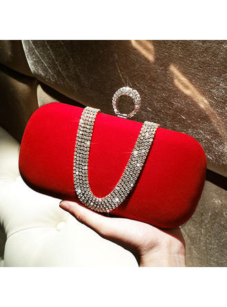 Clutches Wedding/Ceremony & Party Velvet Clip Closure Elegant Clutches & Evening Bags