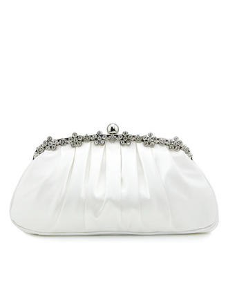 Clutches Wedding/Ceremony & Party Silk Clip Closure Fashional Clutches & Evening Bags