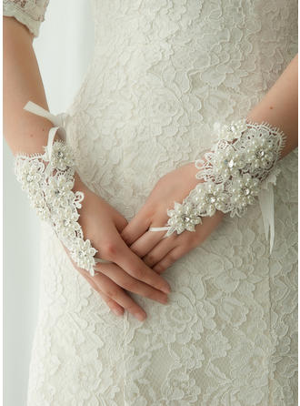 Lace Ladies' Gloves Wrist Length Bridal Gloves Fingerless Gloves (014192205)