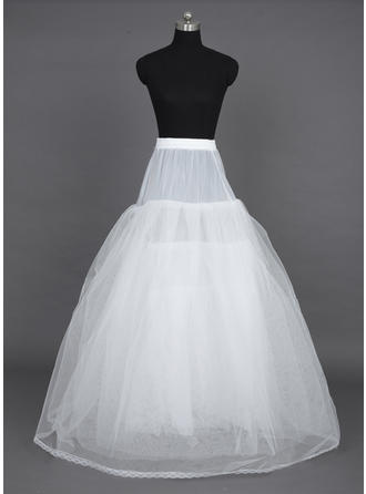 Jupons Longueur ras du sol Nylon/Tissu tulle Combinaison a-ligne/Combinaison pour robe de bal/Combinaison complète 6 couches Jupons