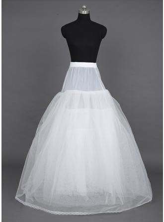 Petticoats Floor-length Nylon/Tulle Netting A-Line Slip/Ball Gown Slip/Full Gown Slip 6 Tiers Petticoats