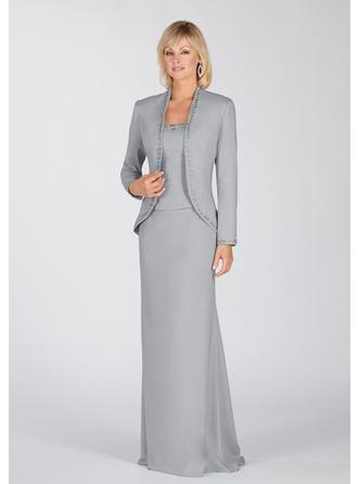 Floor-Length Mother of the Bride Dresses With Embroidered