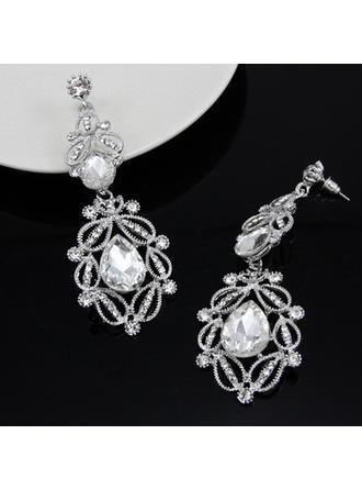 Earrings Alloy/Rhinestones Pierced Ladies' Elegant Wedding & Party Jewelry