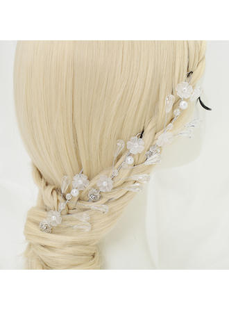 "Hairpins Wedding/Special Occasion/Party Alloy/Imitation Pearls/Beads 3.94""(Approx.10cm) 2.56""(Approx.6.5cm) Headpieces"